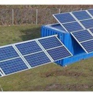 Desert solar container for extreme conditions